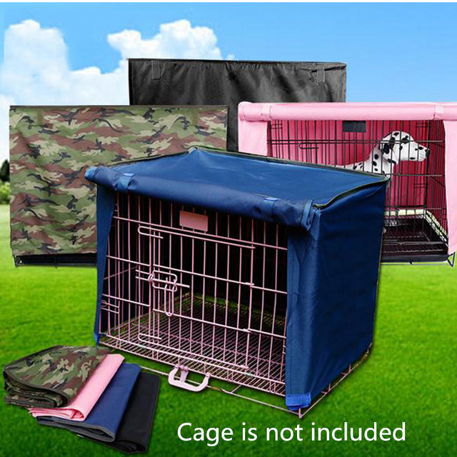 Washable Pet Dog Cage Cover foldable cat house cover kennel accessories pink blue black green waterproof fabric