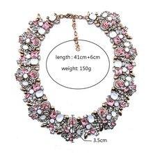 Fashion New BK Colorful Glass Crystal Resin Choker Statement Bib Necklace