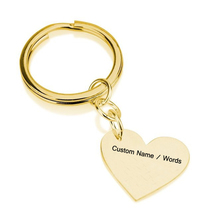 Personality Heart Keychain Gold & Silver Color Key Rings Wedding Gift Can Custom Made Any Name Dropshipping YP2746
