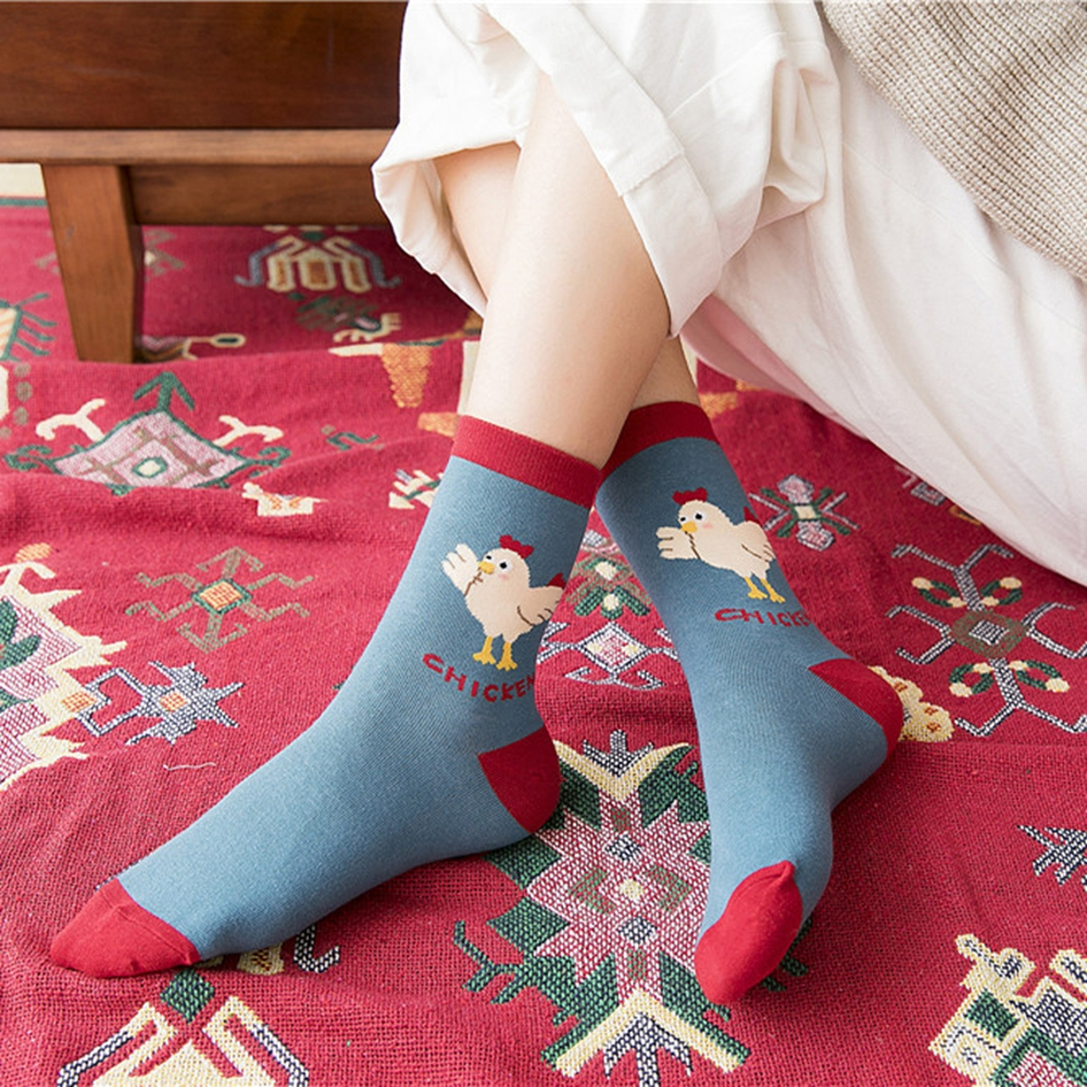 Hosiery & Socks Women's Clothing Harajuku Vintage Flamingo Hosiery Socks Women Men Long Winter Warm Cotton Socks