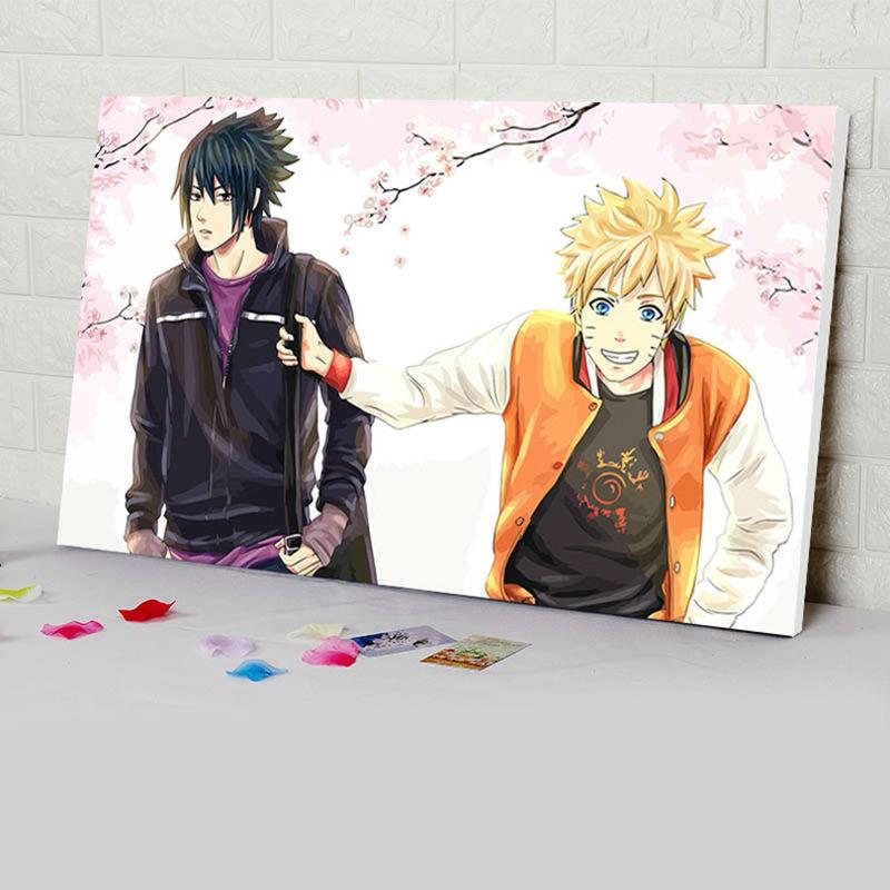 Coloring By Numbers Naruto Digital Paint By Numbers Japan Style Anime Posters Diy Digital Painting Diy Oil Painting
