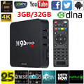 Ru stock docooler m9s-pro wifi smart tv caja 3 gb ram 32 gb S905 ROM Amlogic Quad Core KODI Totalmente Cargado 16.0 Android TV caja