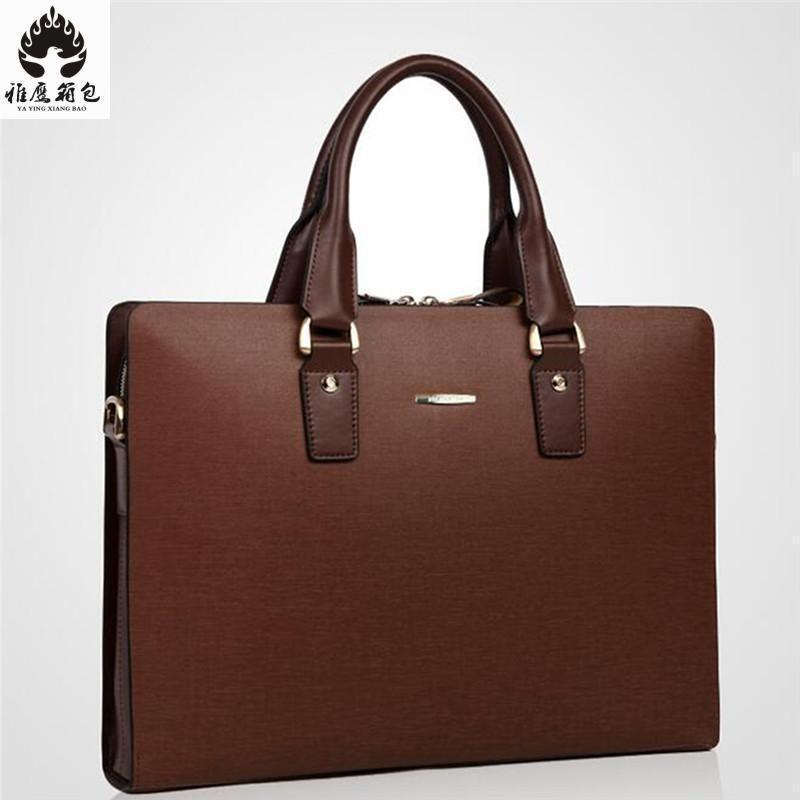 Man Leather Briefcase Genuine Leather Laptop Bags Male Briefcase Business Portfolio Cowhide Laptop Mens Messenger Shoulder Bag xiyuan genuine leather handbag men messenger bags male briefcase handbags man laptop bags portfolio shoulder crossbody bag brown