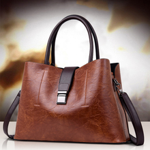 2019 New Womens Handbag Vintage Pu Leather Large-capacity Shoulder Bags With Removable Strap