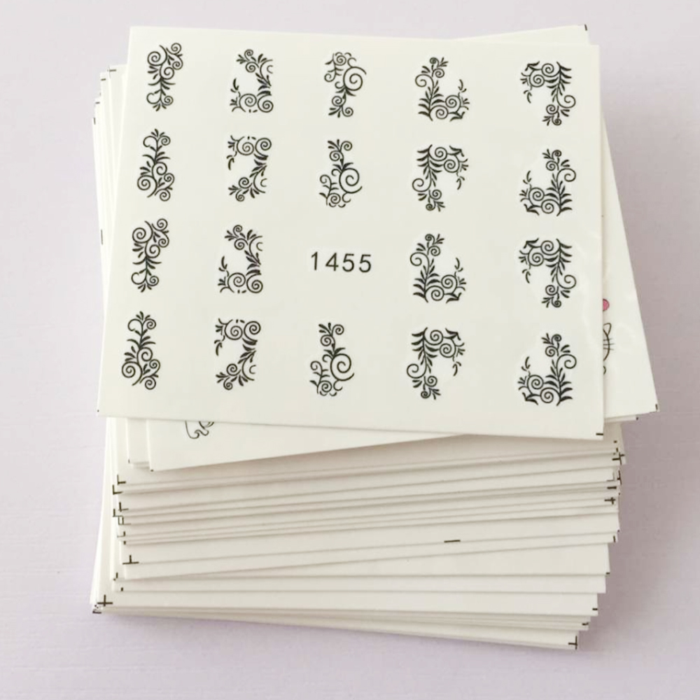 ds238 diy designer beauty water transfer nails art sticker pineapple rabbit harajuku nail wraps foil sticker taty stickers 50 sheets Beauty Floral Design Water Transfer Nail Art Sticker Watermark Foil Wraps Decal DIY Decoration Nail Tool SAXF1422-1469