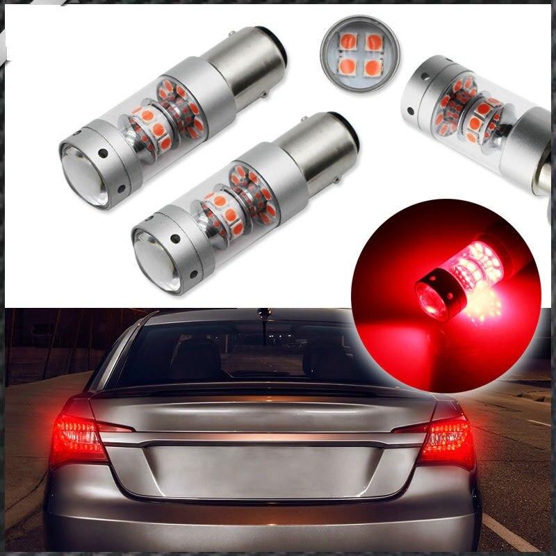 2x 140W 21W/5W S25 1157 BAY15D Sharp Chips  LED Light  Car Reverse Backup Light Brake Light Turn Signal Light White Red 50w 25 led red