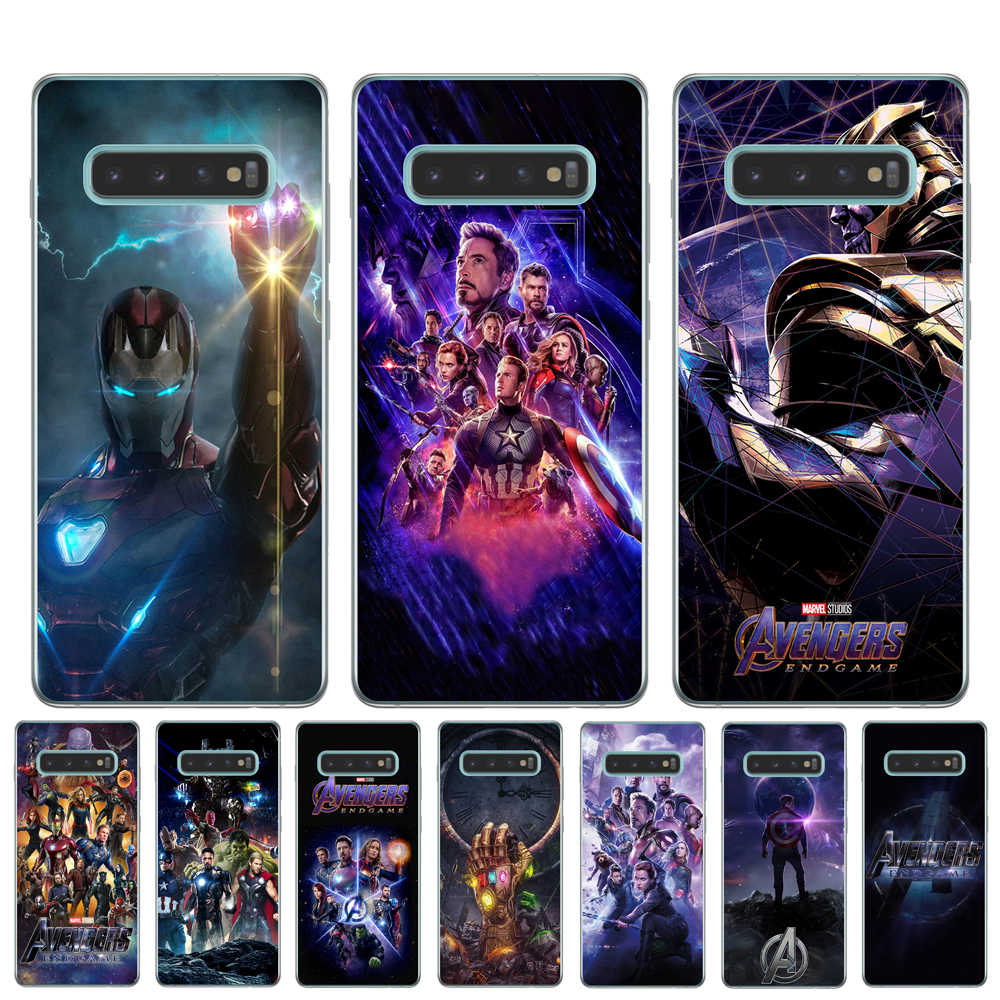 Marvel Avengers Endgame Phone Case For Samsung Galaxy S8 S9 S10 Plus S6 S7 Edge S10 Lite 5G S10E Note 8 9 Soft TPU Cover Coque