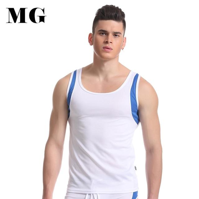 2b0d2e030b8be Mr.Gun Muscle Man Tank Top Breathable Mesh Net Sleeveless Tops Round Neck  Polyester Quick Dry Men s Wear Bodybuilding Tank Tops