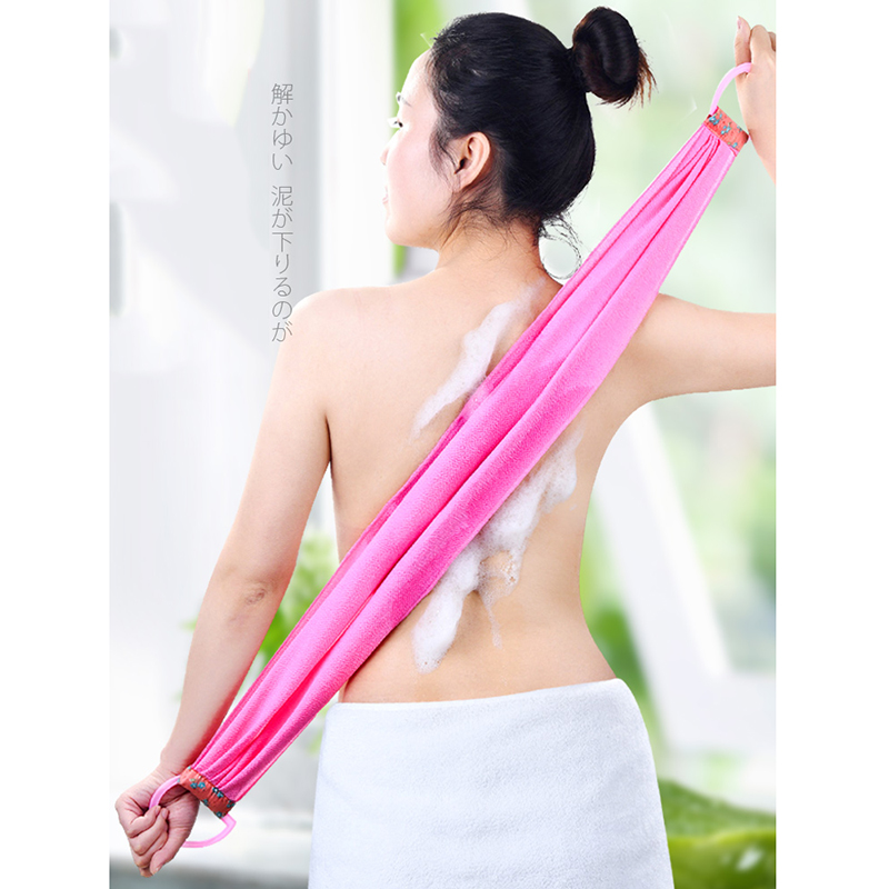 Long Rubbing Bath Towel Rubbing Back Towel Single Layer Back Lengthening Strong Rubbing Mud Grinding Japanese Bath Towels Woman