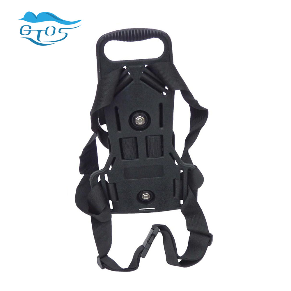 US $42 63 30% OFF|SCUBA Diving backpack Tank holder with Shoulders Straps  Nylon Buckle diving gear oxygen bottle holder-in Life Vest from Sports &