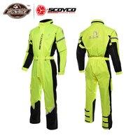 SCOYCO мотоциклетная куртка + мотоциклетные брюки для девочек плащ для езды дышащий водостойкий ветрозащитный Motocicleta капюшон от дождя костюм д