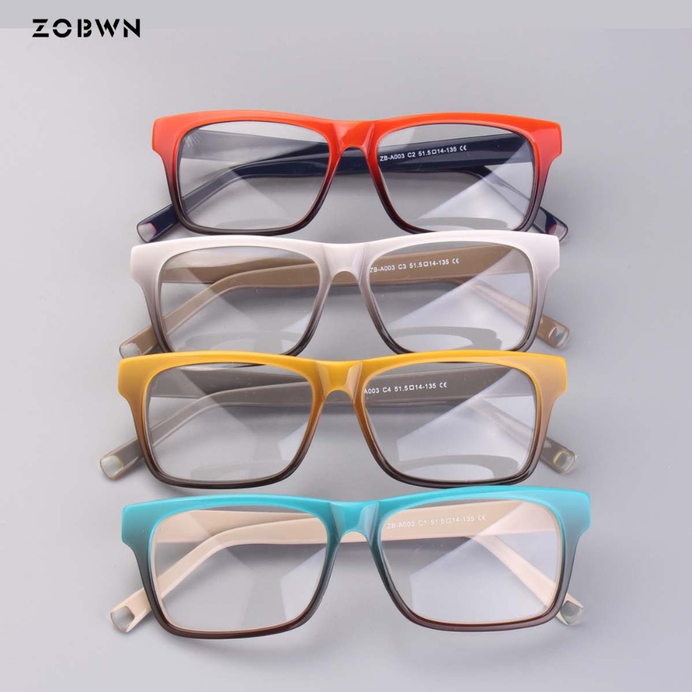 ZOBWN mix wholesale Vintage Brand Designer Glasses Women Frame Glasses Clear Lens Eyeglasses Frame Women oculos
