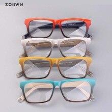 Оптовая продажа, винтажные брендовые дизайнерские очки ZOBWN mix, женские очки в оправе, очки с прозрачными линзами, женские очки серые женские