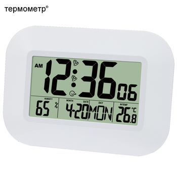 ビッグナンバー液晶デジタルウォールクロックテーブルデスクトップ目覚まし時計温度計湿度湿度計スヌーズカレンダーデジタル時計