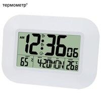 Grote Nummer Lcd Digitale Wandklok Tafel Desktop Wekker Met Temperatuur Thermometer Hygrometer Snooze Kalender