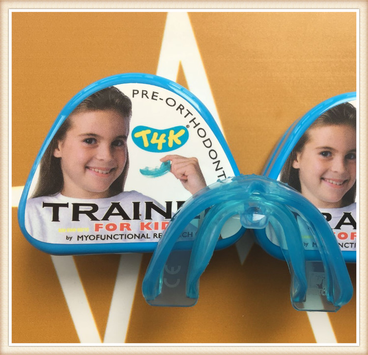 T4k Blue Color MRC Australia Original Dental Orthodontic Teeth Trainer For Children Use myofunctional infant trainer phase ii hard oringal made in australia infant primary dentition trainer girls