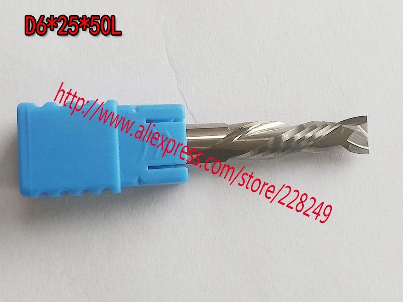 3pcs D6*25*50L HRC55 2 Flutes Up&Down Cut Solid Carbide CNC Router Bit Wood Flat Endmill Tungsten End Milling Cutter Tool 8 60 90 120 v 2 flutes cnc machine engraving bit two spiral cutter cnc router endmill