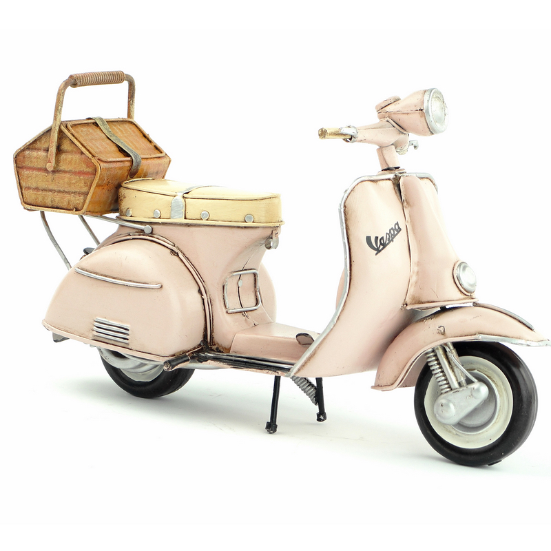 New Handmade Motorcycle Model 1965 VESPA Metal Motorbike Artefact Model Toy For Collection Gift Decoration Free