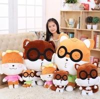 Candice guo pluszowe zabawki wypchane lalki cute animal okulary wiewiórka cartoon model kochanka dziecka kid prezent świąteczny prezent urodzinowy 1 pc