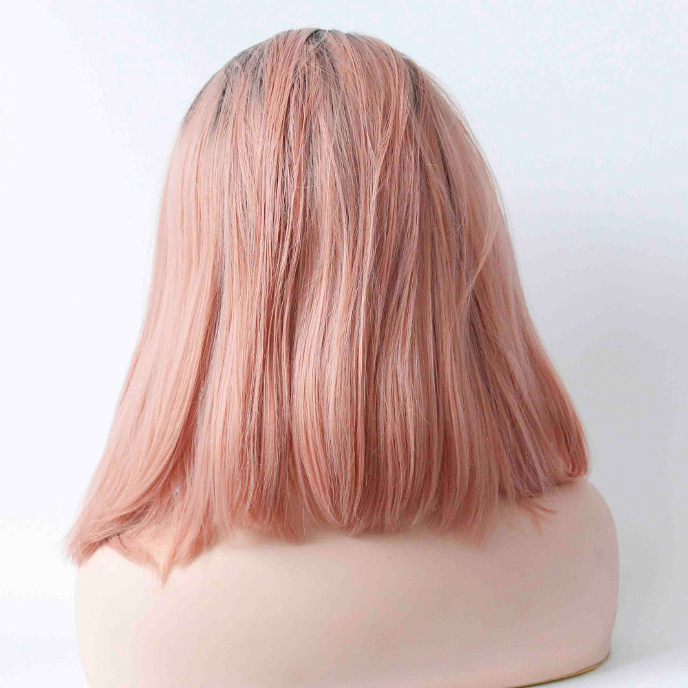Rose Gold Short Ombre Hair