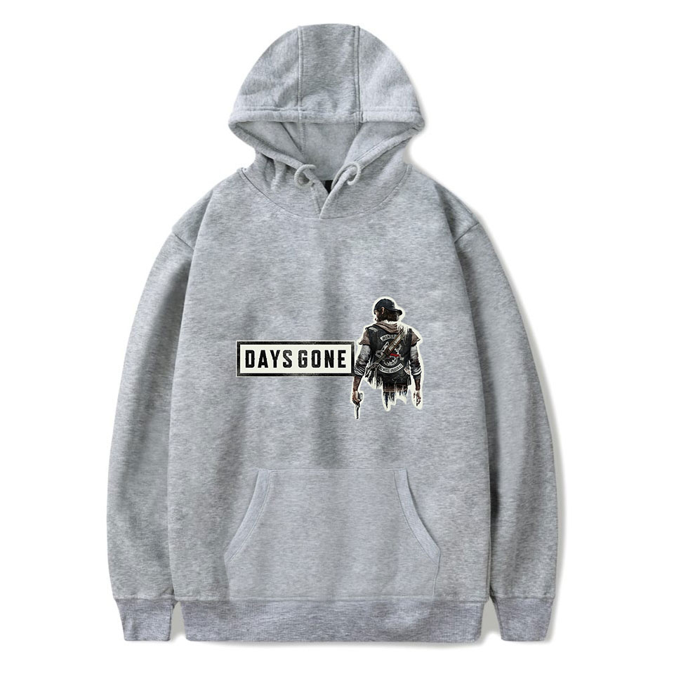 Buy 2019 Hip hop vitality hoodie days gone printed hooded sweatshirt men's women's casual tops high quality loose comfortable hoodie for only 22.8 USD