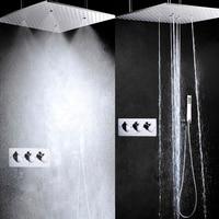 Rain Shower Set Hot And Cold Bath & Shower System 20 Inch Bathroom Shower Head Bathroom Shower Faucet Mixer Panel
