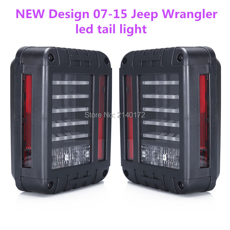 Newest led taillight 66w led reverse backup tail light European & US Version for Jeep Wrangler JK 4WD 2pcs brand new high quality superb error free 5050 smd 360 degrees led backup reverse light bulbs t15 for jeep grand cherokee