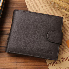 BARHEE New High Quality Genuine Leather Men Wallet Bifold Cowhide Male Short Purse Card Holder Carteira Black Coffee sac a main