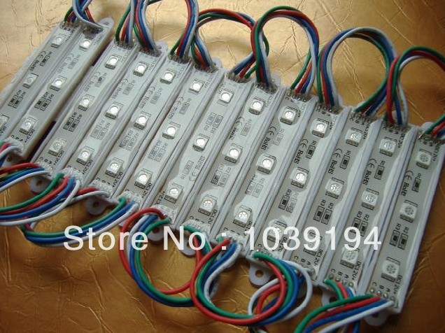 100pcs Courlorful 5050 3 LED Modules RGB Waterproof IP68DC12V,LED Channel Letter High Brightness Free Mail