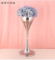 66cm Tall Silver Table Centerpiece metal flower stand Wedding Props