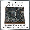 """100% Original 661-5944 Para A Apple iMac 21.5 """"A1311 Placa Gráfica placa De Vídeo GPU 512 MB Cartão HD6750 109-C29557-00 2011 Anos"""