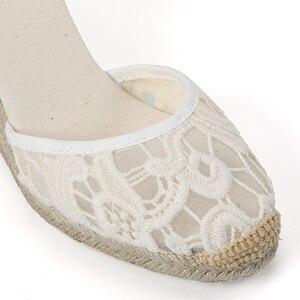 Image 2 - Tienda Soludos Cap Toe sandały na koturnie z wysokim obcasem dla kobiet, klasyczne miękkie kostki sznurowane espadryle buty kostki pasek na co dzień