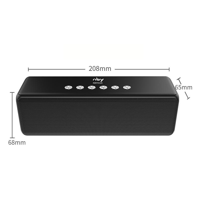 NBY 5510 Tragbare Bluetooth Lautsprecher Wireless Outdoor Lautsprecher Computer Woofer Lautsprecher 3D Stereo Sound System MP3 Boombox TWS