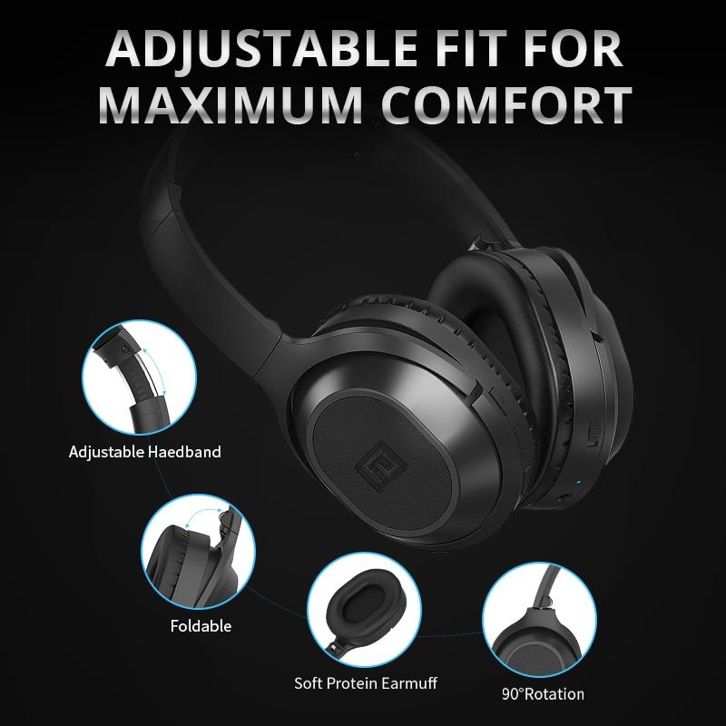 Langsdom BT25 Bluetooth casque actif suppression de bruit casque sans fil stéréo Bluetooth casque avec micro pour téléphone - 4