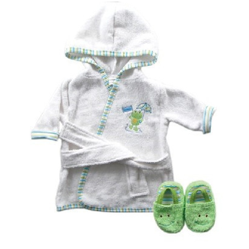 New Design Cotton Warm Baby Bath Robes Child Cartoon Baby Towel Character Kids Bath Towel Infant Hooded Towel Set (2)
