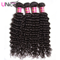 UNice Hair 7A Peruvian Deep Wave 4pcs Cheap Peruvian Virgin Hair Deep Wave Unprocessed Deep Curly Wet and Wavy Human Hair Weave