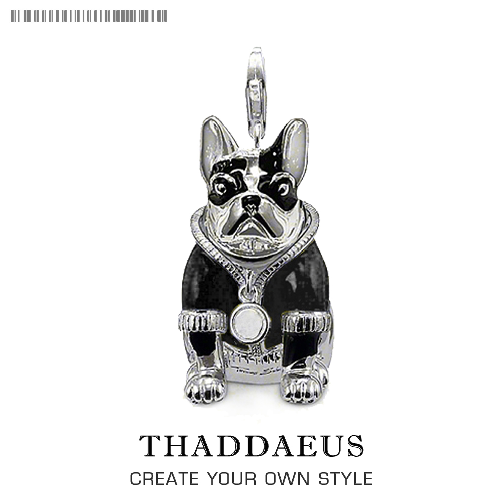 Pendant Black Bulldog Dog,2017 Fashion Trendy Jewelry Thomas Style Bijoux Necklace 925 Sterling Silver Gift For Ts Soul Woman