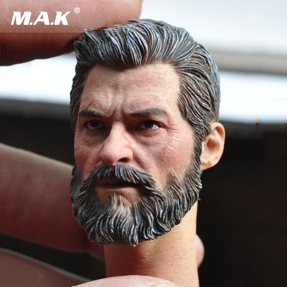 MAK  1/6 Male Head Sculpt Wolverine Logan Battle Damage Head model Hugh Jackman fit 12 Action Figures 1 6 scale male head wolverine head sculpt old hugh jackman logan x men for 12 action figure body
