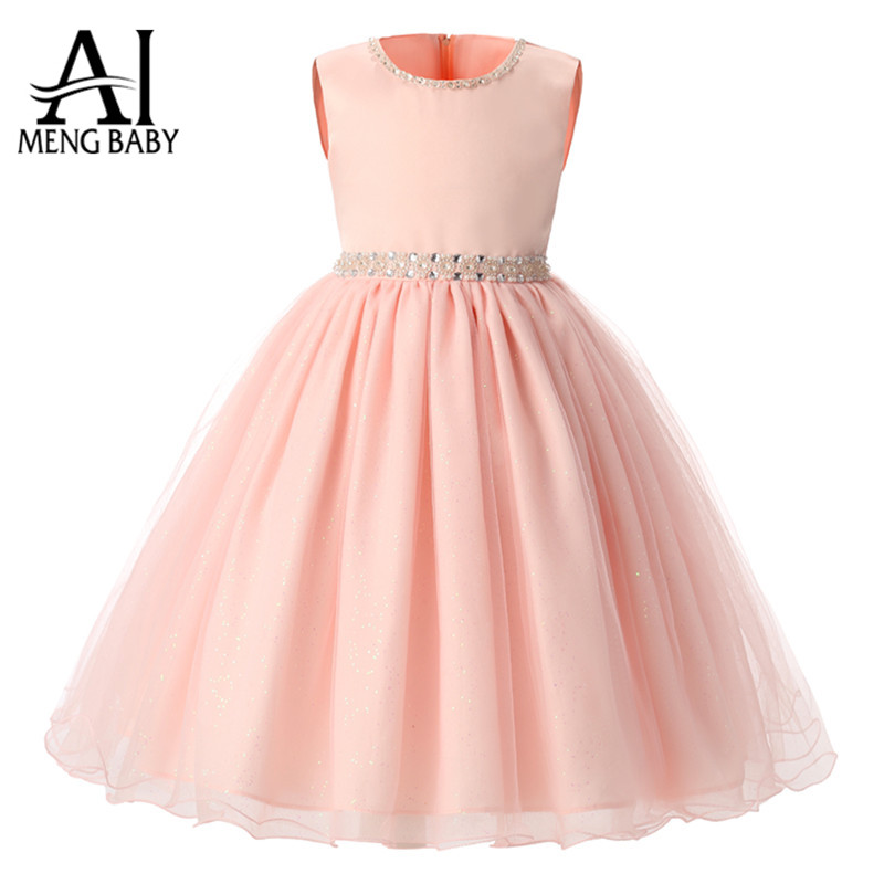 Buy ai meng baby girl princess dress for Wedding party dress up