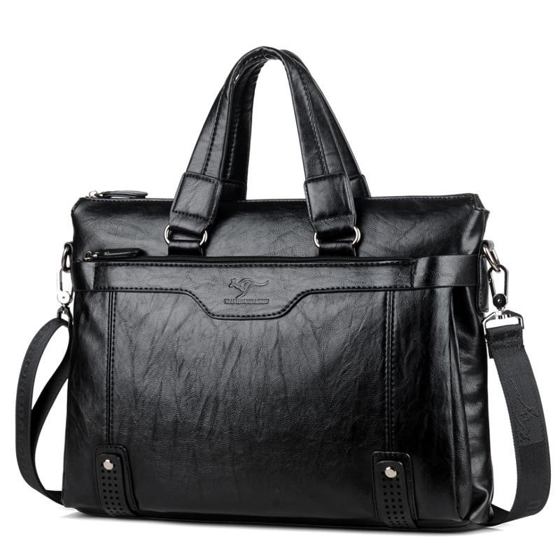 Briefcases Messenger-Bags Retro Tote Handbags Travel-Bag Business Vintage Men's Large