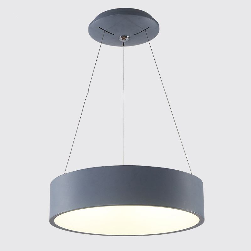Modern D450mm round circle hanging lamp 85-265V 28W led dining room kitchen pendant light household suspend lighting 85 265 v led crystal lamp the hotel lobby kitchen dining