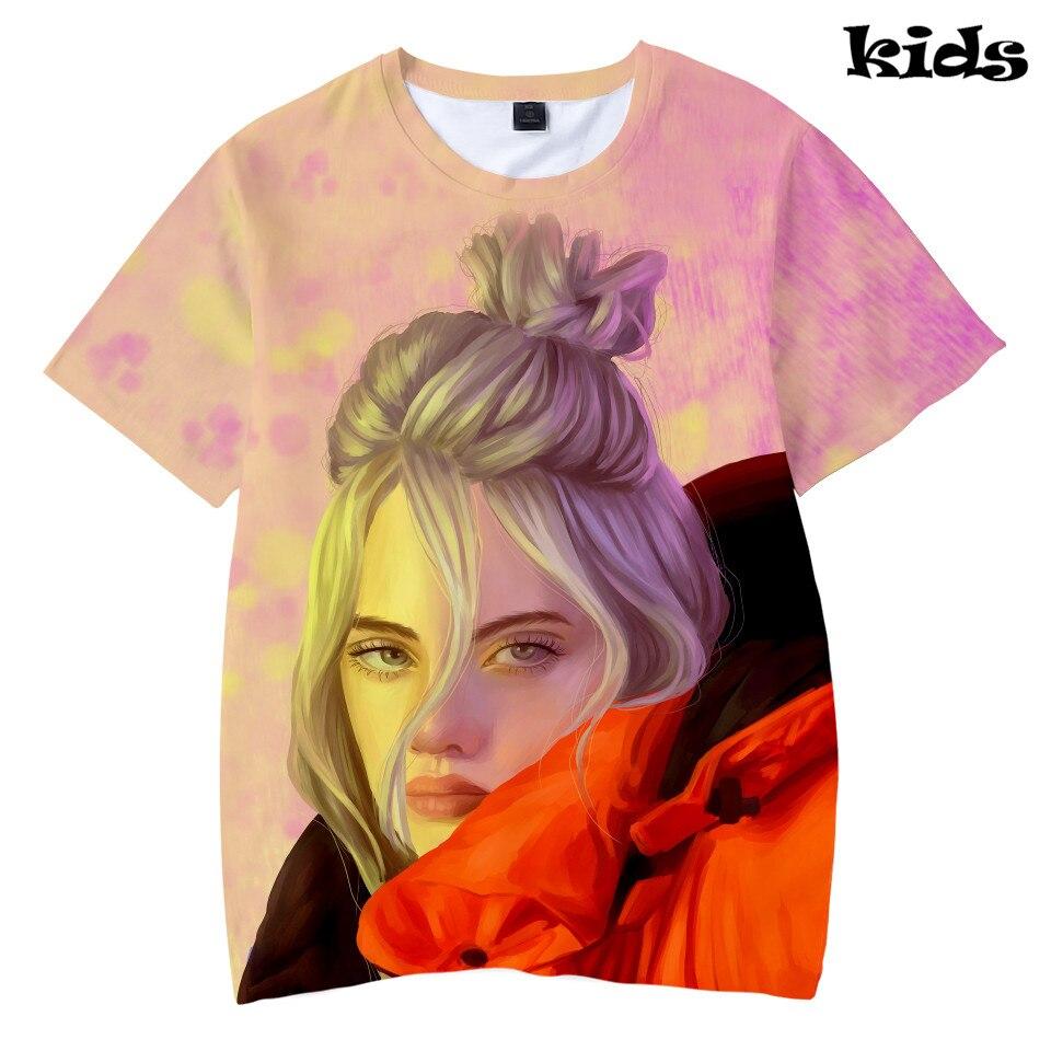 1b69a3156 Hip Hop 2019 Kids Tee Singer Billie Eilish 3D Printed Cool Summer Fashion  O-Neck Short Sleeve Funny Tshirt Streetwear Casual