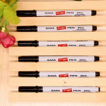 10pcs/Small headed marker pen Mark Oily Optical Disc plastic signature Zebra same style school office supplies