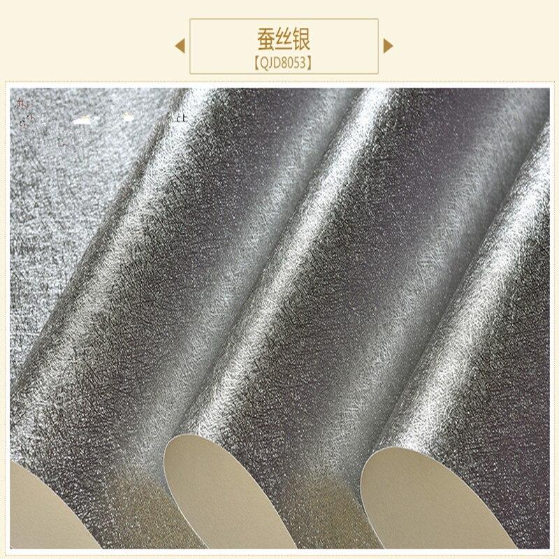 Papier peint doré feuille d'argent hôtel KTV Club clignotant réfléchissant brossé plafond papier peint - 3
