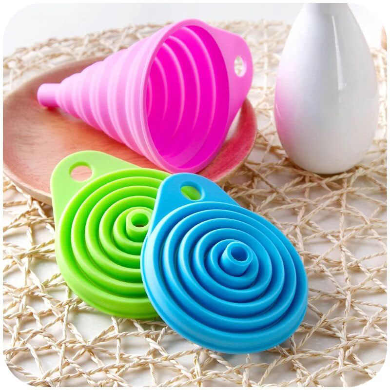 3 Colors Mini foldable silicone portable Funnel Diamond Painting Accessories Bead Container Diamond Embroidery Storage Tools