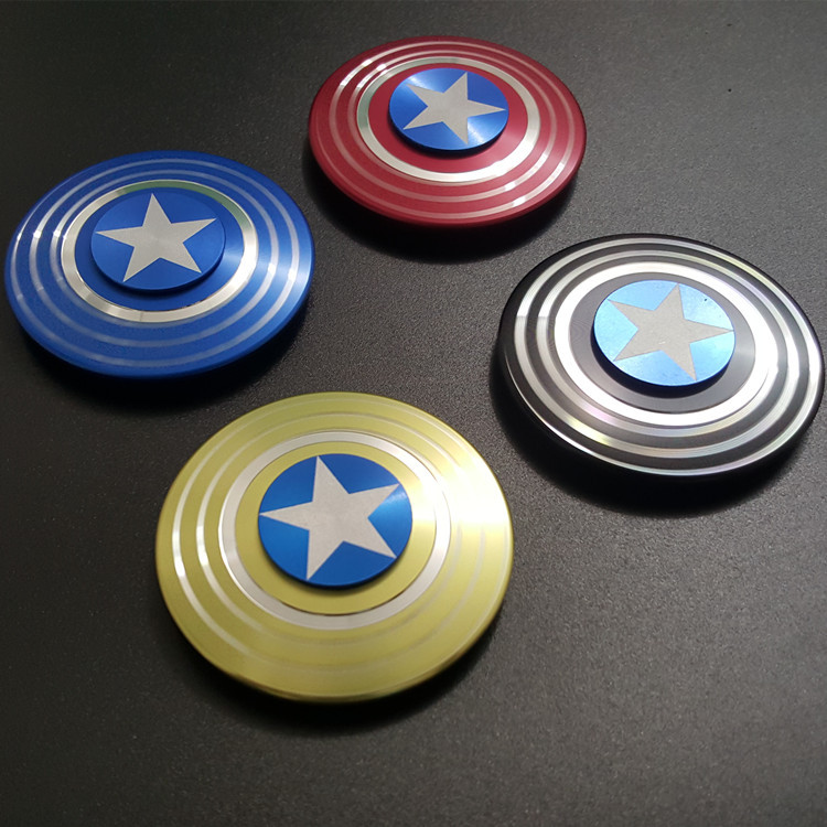 The Avengers Captain America Shield Finger Spinner Hand Fid