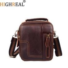Fashion Men's Messenger Bag Retro Shoulder Bag Genuine Leather Small Bag Crossbody Multifunctional Waist Pack B22