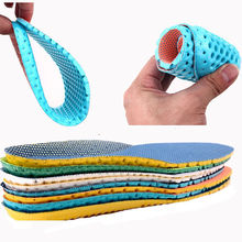 gootrades 1 pair Unisex Stretch Breathable Deodorant Shoe Soft Relief Pain Running Cushion Insoles Pad Insert 35-40