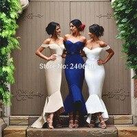 Сексуальный верх рукава русалка невесты платье сестры свадебное платье