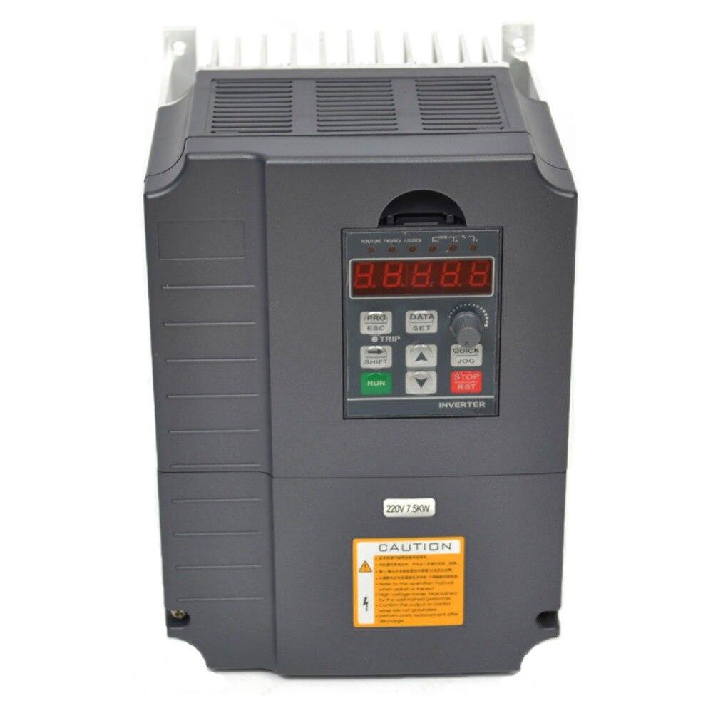 Vfd variateur de fréquence 7.5kw 220 V 10HP variateur de fréquence variateur de vitesse moteur régulateur de vitesse